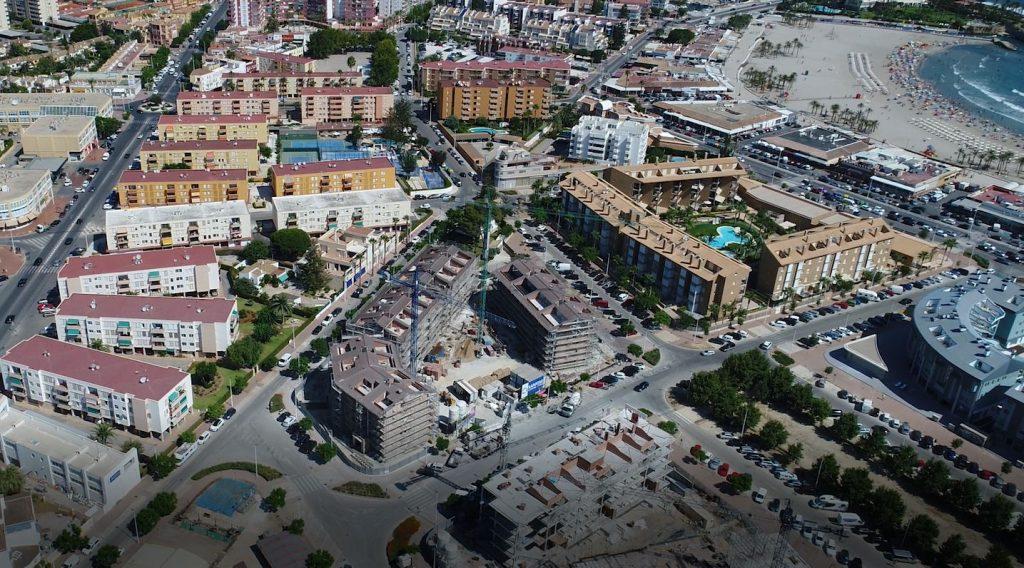 Obras de la promoción Brisas del Arenal, en Jávea (Alicante)