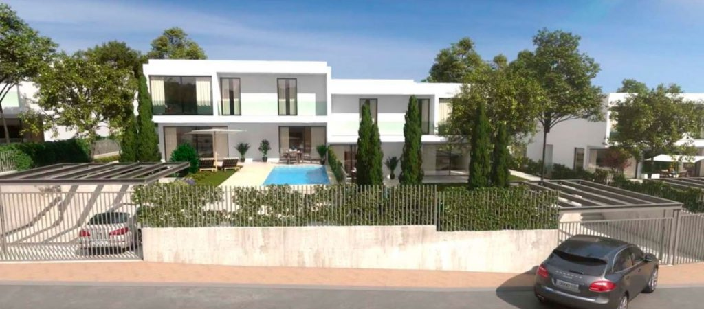 obra nueva madrid boadilla piscina jardin