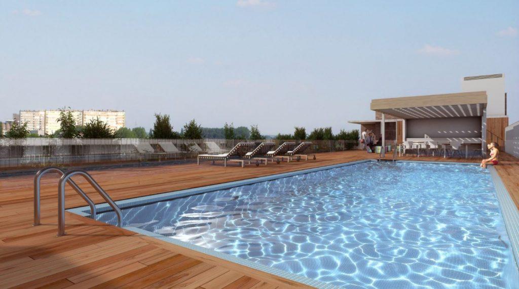 Piscina en el cielo de madrid as son estos pisos de - Pisos con piscina en madrid ...