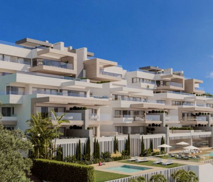 La sensación de vivir en un ático de obra nueva en Estepona con vistas a la Costa del Sol