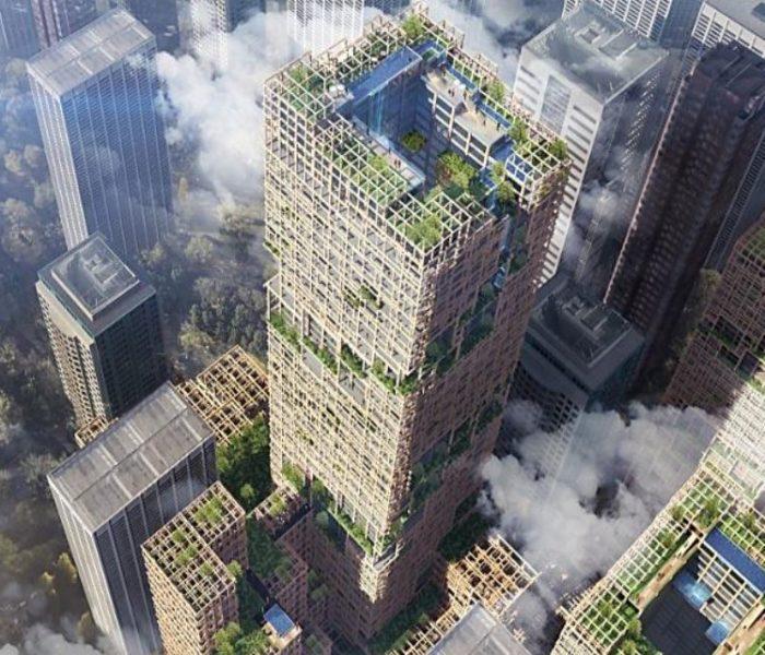 350 metros de madera en mitad de Tokio: así será la torre W350