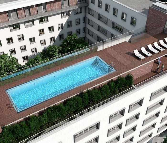 Vídeo: el arquitecto de Altos del Pilar te cuenta las ventajas de que tu casa de obra nueva tenga la piscina en la cubierta del edificio