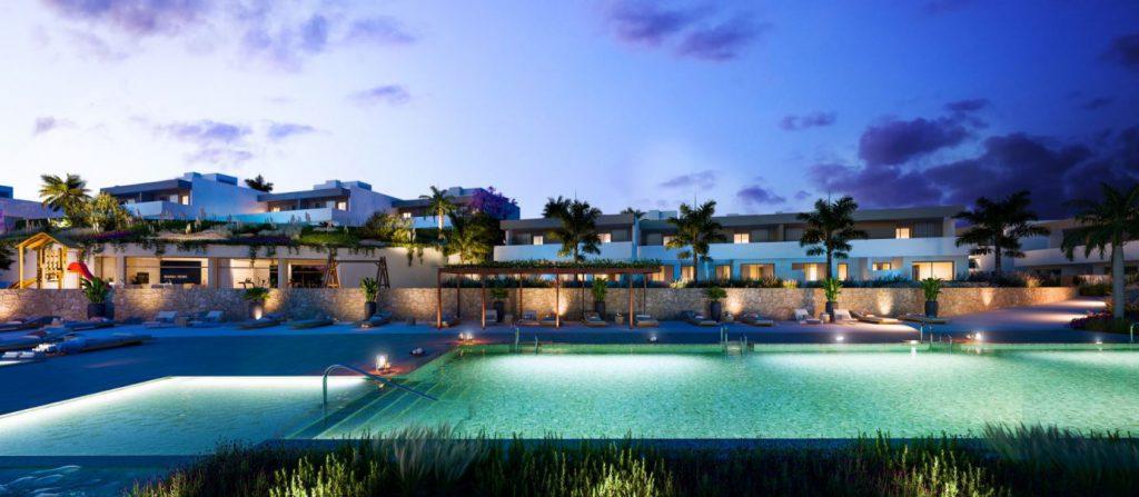 obra nueva alicante mara views piscina noche